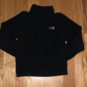 EUC BOYS NORTH FACE 3/4 zip fleece shirt sz s 7/8